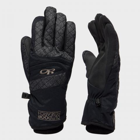 Outdoor Research Women's Riot Glove - Blk/Blk, BLK/BLK
