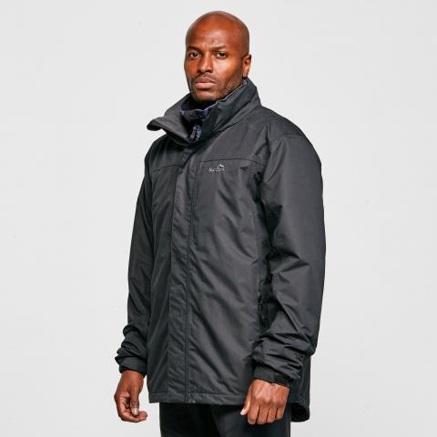 Peter Storm Men's Downpour Insulated Jacket, BLACK/BLACK