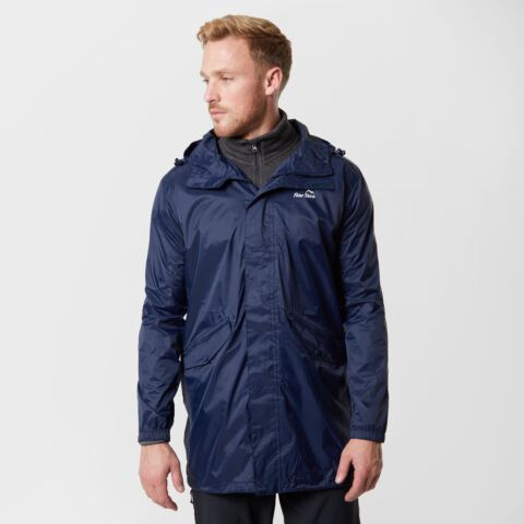 Peter Storm Men's Packable Parka Jacket, Navy Blue/NVY