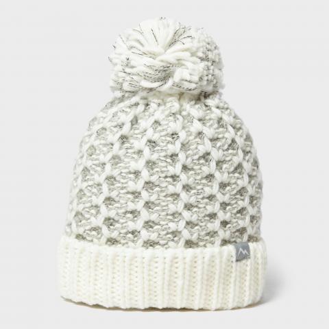 Peter Storm Women's Ava Bobble Hat, CREAM/CREAM