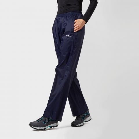 Peter Storm Women's Packable Waterproof Trousers, Navy Blue/Navy Blue