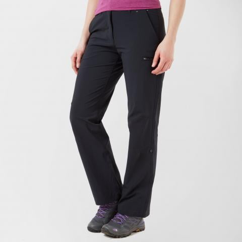 Peter Storm Women's Stretch Roll-up Trousers, BLACK/BLACK