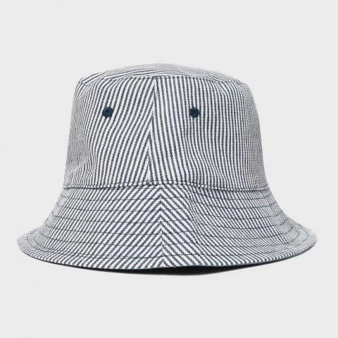 Peter Storm Women's Striped Bucket Hat, Navy Blue/NVY