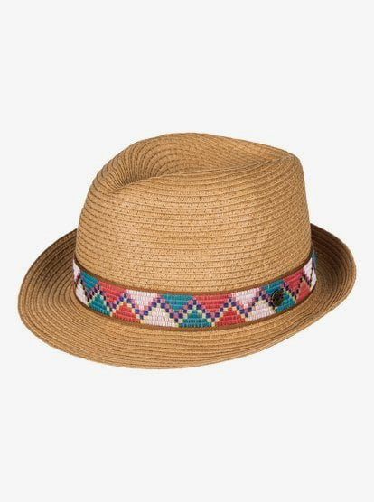 Sentimiento - Straw Fedora for Women - Yellow - Roxy