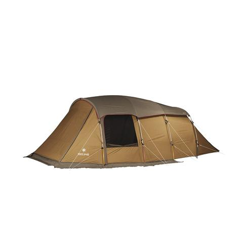 Snow Peak | Entry 2 Room Elfield Tent | Four Person Tent | Tan
