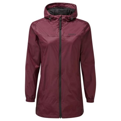 TOG24 Craven Womens Long Waterproof Packaway Jacket - Deep Port
