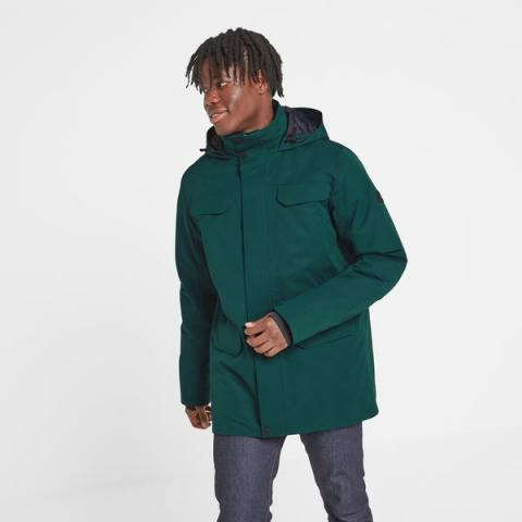 TOG24 Nawton Mens Waterproof Parka - Forest