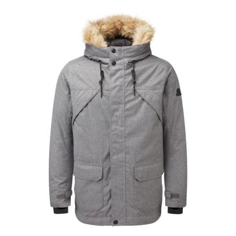 TOG24 Premium Mens Waterproof Down Filled Parka - Dark Grey Marl