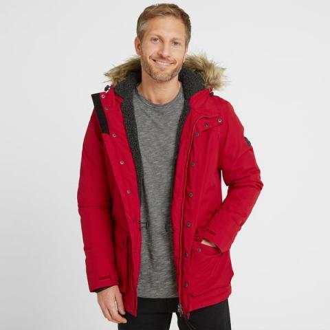 TOG24 Radial Mens Waterproof Parka Jacket - Chilli Red