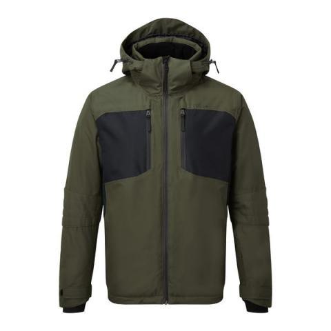 TOG24 Sharp Mens Waterproof Insulated Ski Jacket - Dark Khaki/Black