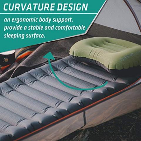 TREKOLOGY UL Camping Mat, Sleeping Pad, Camping Mattress - UL80 Inflatable Airbed Roll Mat Lightweight Camp Mats…