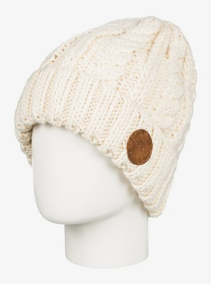 Tram - Cable Knit Beanie - Beige - Roxy