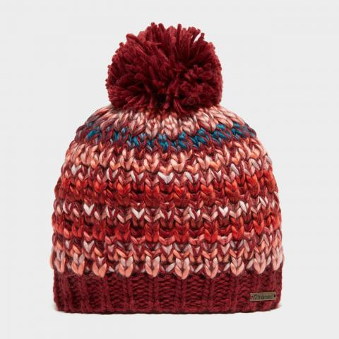Trekmates Women's Rebecca Knitted Hat, RED/RED