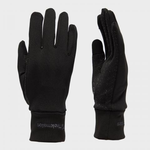 Trekmates Women's Touchscreen Grip Gloves - Blk/Blk, BLK/BLK