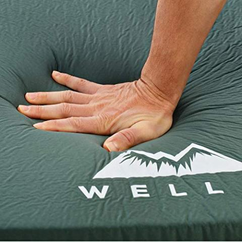 WELLAX UltraThick FlexFoam Sleeping Pad - Self-Inflating 3 Inches Camping Mat for Backpacking, Traveling and Hiking…