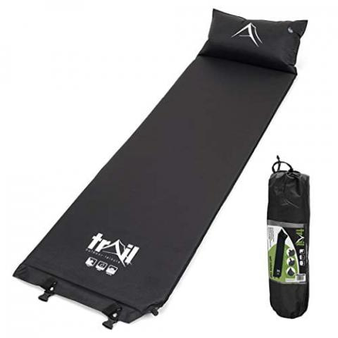 trail outdoor leisure Self Inflating Camping Mat With Pillow Inflatable Sleeping Camp Roll Mattress