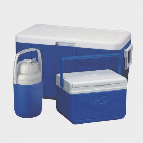 COLEMAN Coleman Polylite 48QT Cooler Combo, Navy Blue/NV