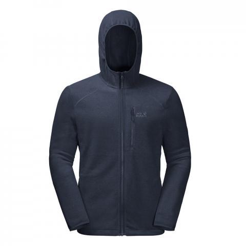Jack Wolfskin Mens Skywind Full Zip Hooded Fleece