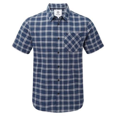 TOG24 Ashley Mens Short Sleeve Shirt - Denim Check