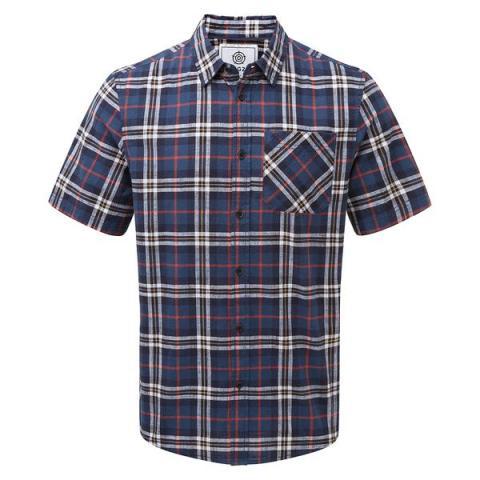 TOG24 Donald Mens Short Sleeve Shirt - Navy Check