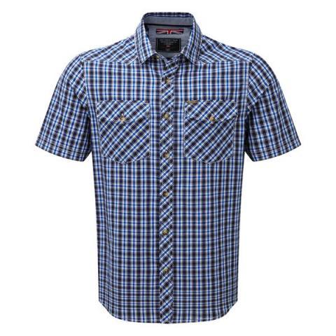 TOG24 Oliver Mens TCZ Cotton Shirt - Ocean Check