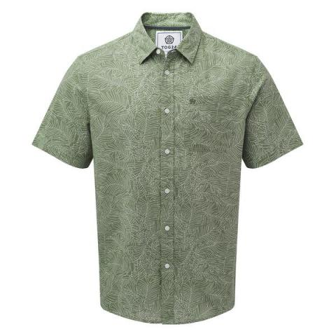 TOG24 Palm Mens Short Sleeve Shirt - Faded Forest