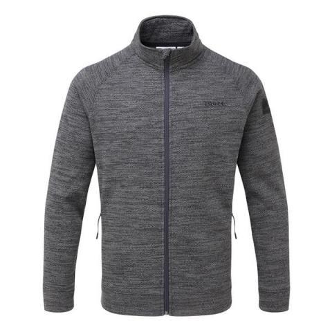 TOG24 Simpson Mens Knit Look Fleece Jacket - Light Grey Marl