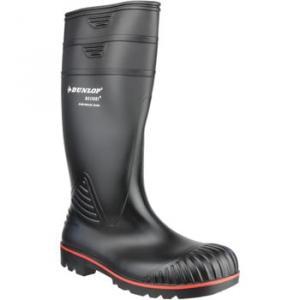 Dunlop Acifort women's Wellington Boots in Black. Sizes available:6,7,8,9,10,11,12,13
