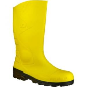 Dunlop Devon women's Wellington Boots in Yellow. Sizes available:3,4,5,6,7,8,9,10,11,12