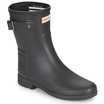 Hunter ORIGINAL REFINED SHORT women's Wellington Boots in Black. Sizes available:3,7,9