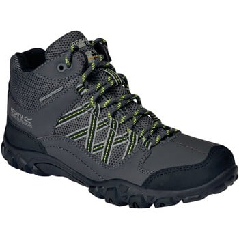 Regatta EDGEPOINT JUNIOR Mid Walking Boots boys's Children's Safety Boots in Grey. Sizes available:2,2.5,3,5,10,11,12,13,1 kid,1