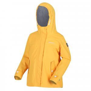 Regatta Kids' Bibiana Waterproof Jacket, YELLOW/YEL