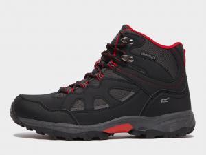 Regatta Kids' Vale Mid Walking Boot, Black/Red