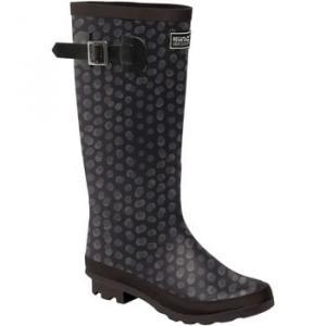 Regatta LADY FAIRWEATHER II Wellingtons women's Wellington Boots in Black. Sizes available:4,5,6,6.5,7,8