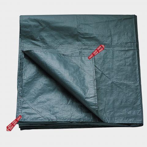 COLEMAN Coleman Tent Footprint 6L, BLK/BLK