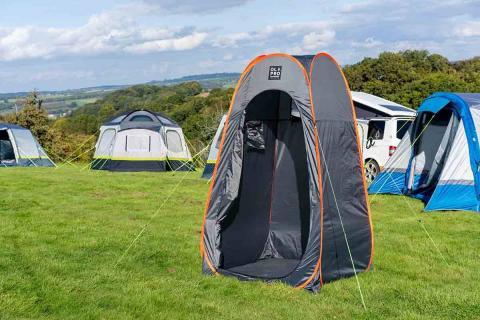 Grey Pop Up Toilet & Utility Tent 1.2M