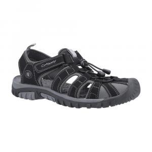 Cotswold Mens Sandhurst Touch Fastening Sandals-Black / Grey-7