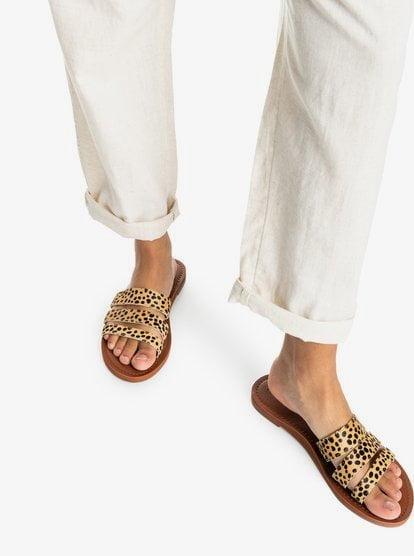 Wyld Rose - Leather Sandals for Women - Orange - Roxy